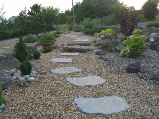 Ara ve yaya yolu d zenleme for No maintenance garden designs